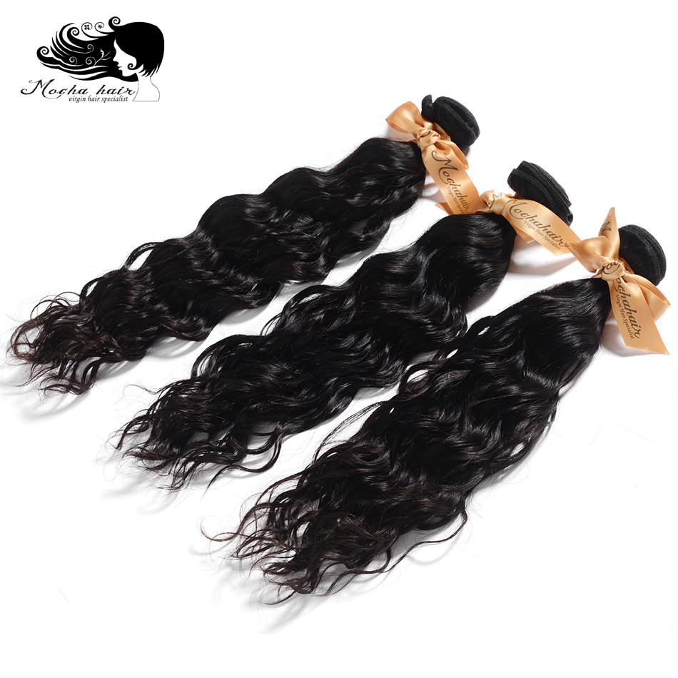 MOCHA Hair 3 Bundles Brazilian Virgin Hair Weave Bundles Natural Wave 100% Unprocessed Human Hair Extension Free Shipping