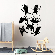 Fashionable cats Wall Sticker Vinyl Waterproof Decor For Kids Rooms Nursery Room Decoration Decal Art Murals