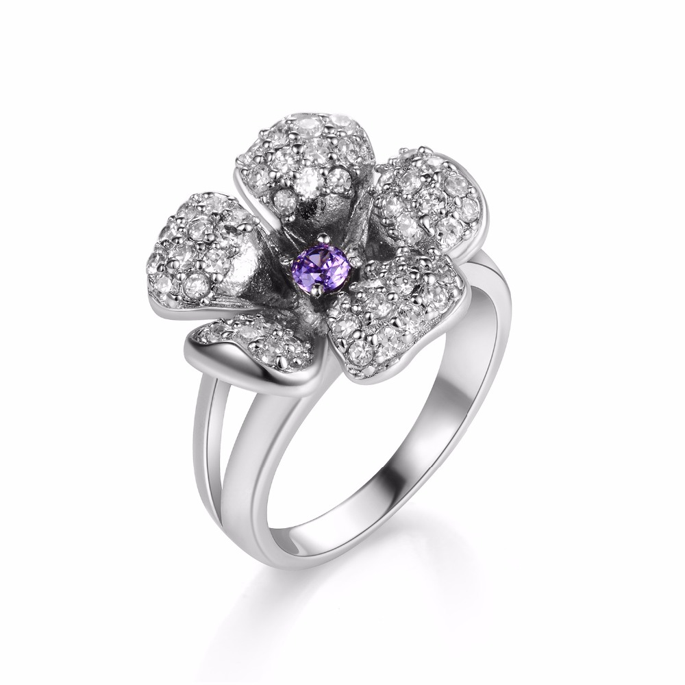A1137 Big Promotion High Quality Rings Beauty Crystal CZ