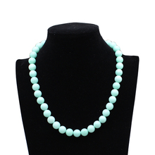 Natural Sky Blue Amazonite Stone Beads For Jewelry Making DIY Women Necklace elegant gift jewelry 18inch