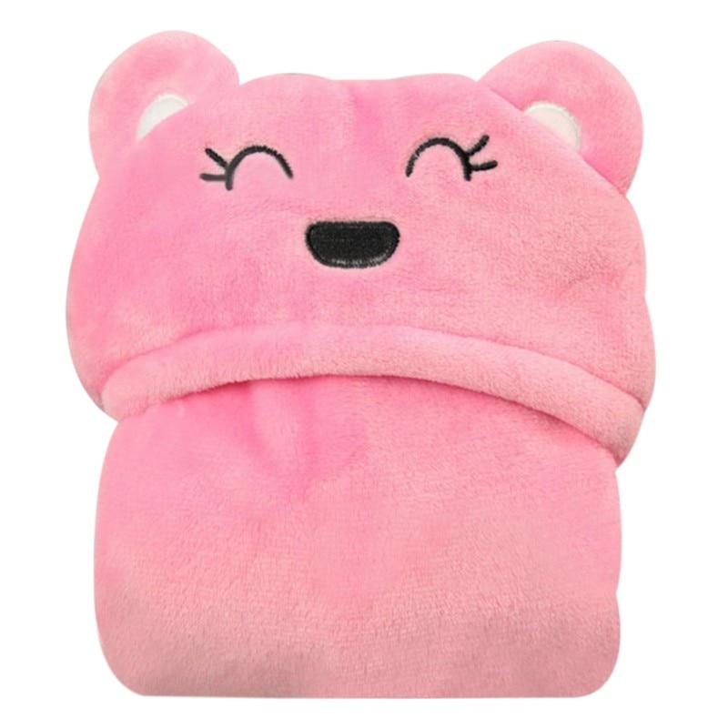 New Soft Baby Blanket Towels Animal Style Hooded Bath Towel Sleeping Bed Supplies