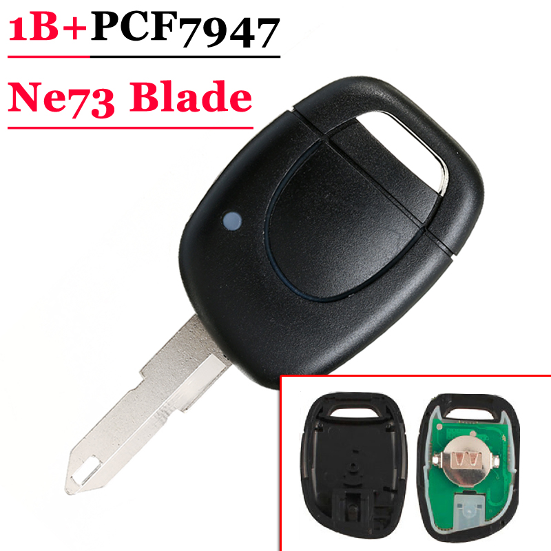 Best quality 1 Button Remote Key With PCF7947 Chip NE73 Blade For Renault  (5 pieces/lot)