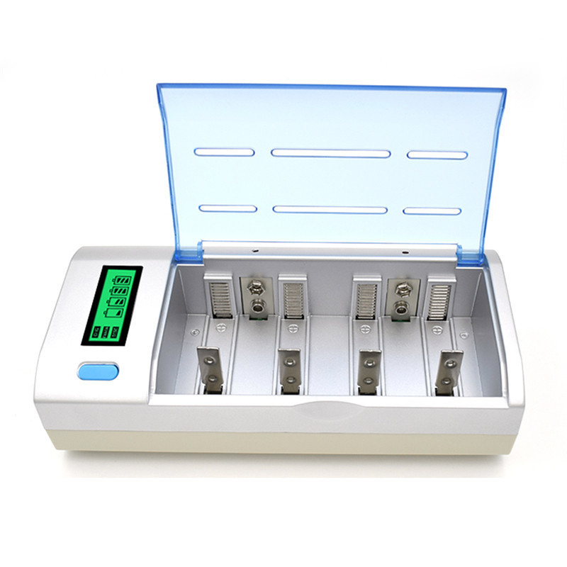C906W 22650 Battery Charger AAA  C  D  AA Battery Charger 4 Slots LCD Display Multi Usage Car Charger Rechargeable Battery