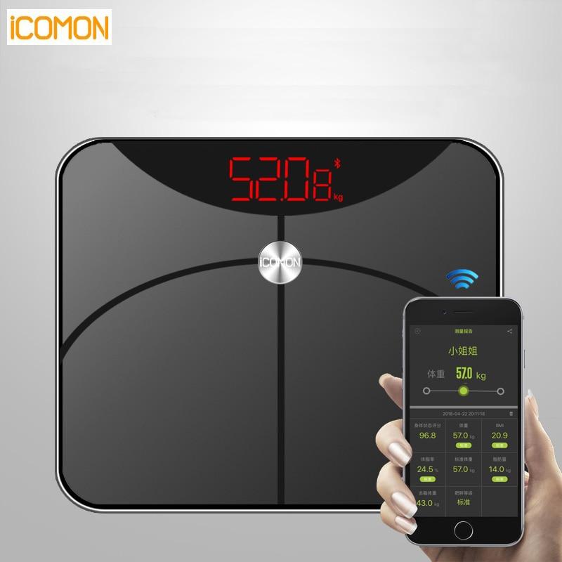Новые 25 средства ухода за кожей данных бытовой Смарт весы Электронные напольные весы для измерения жира вес цифровой Terazi PK Yunmai