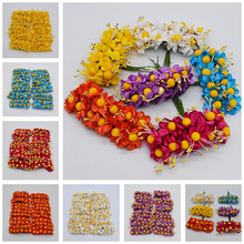 US $0.46 20% OFF|12/36/72/144pcs Yellow Ball Stamen Artificial MINI Paper Flowers For Wedding Decor Handmade Bouquet Wreath Scrapbooking Craft 8z-in Artificial & Dried Flowers from Home & Garden on Aliexpress.com | Alibaba Group