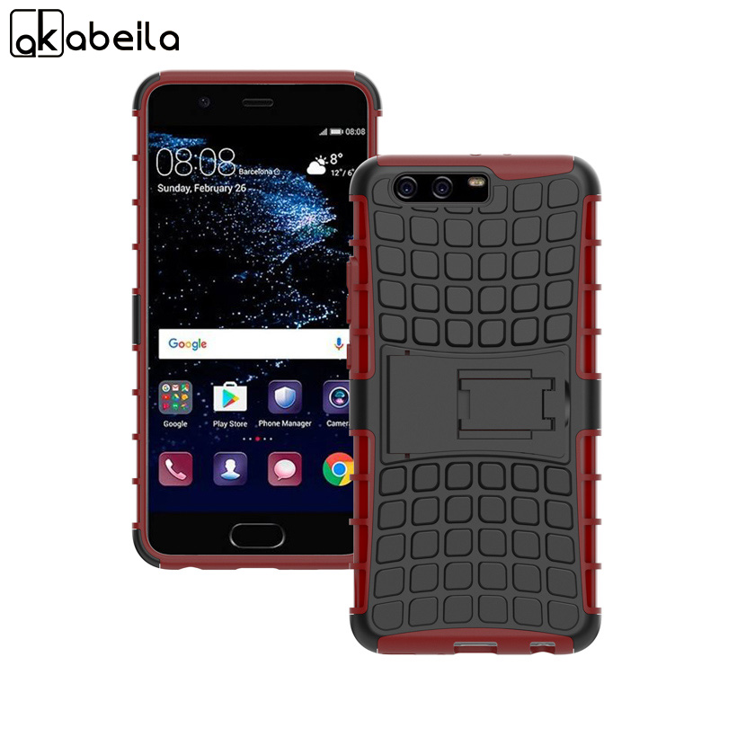 AKABEILA Cases For Huawei P10 Plus Accessories Vicky 5.5 inch Shell Armor Hybrid Tyre Covers Bags Shell Skin Hood Housings