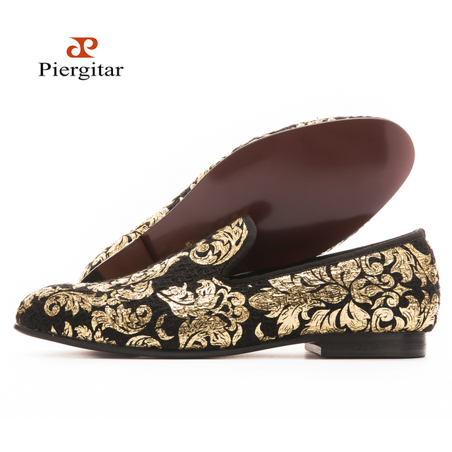371b00b8092 New High-end Gold printing men shoes luxury Fashion men loafers men flats  size US 6-14 Free shipping
