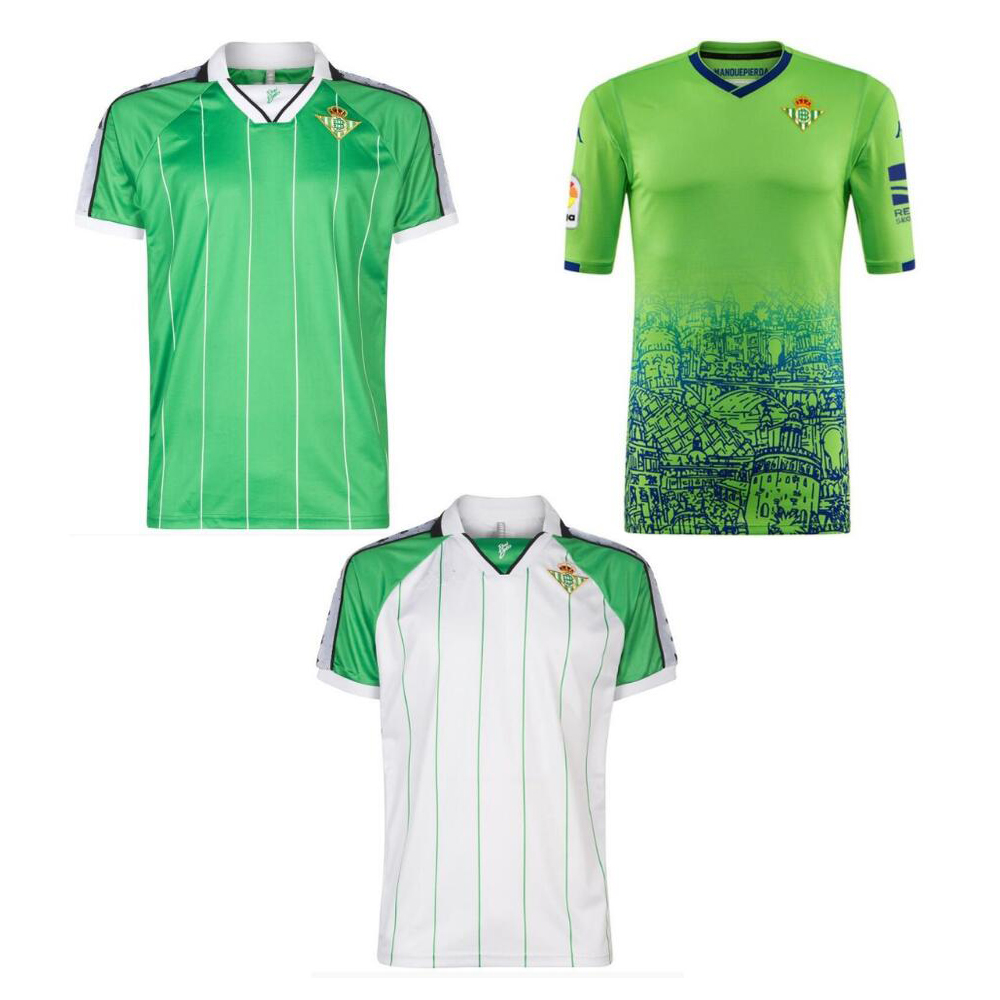 2018 2019 real betis 3rd away adult T-shirt New Leisure Best Quality retro shirts Casual S-2XL 18 19 third home shirt(China)