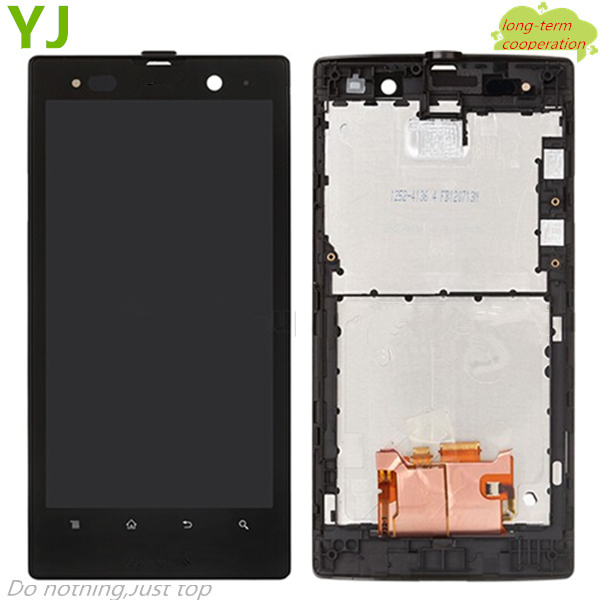 HK Free shipping LCD Assembly and Touch Screen Digitizer with Front Housing for Sony Xperia Ion LTE LT28at LT28i