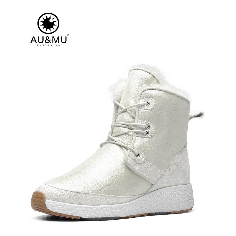 2017 AUMU Australia Women Classic Short Sheepskin Lace Up Suede Winter Snow Boots UG NY105 2017 aumu australia women classic short sheepskin elastic suede winter snow boots ug ny082