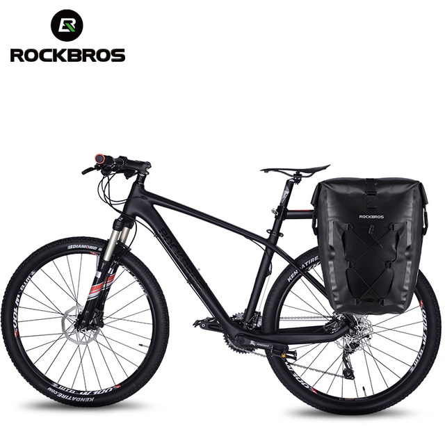 ROCKBROS Waterproof Bike Bag 27L Travel Cycling Bicycle Bag Rear Rack Tail Seat Trunk Bags Pannier MTB Mountain Bike Accessories