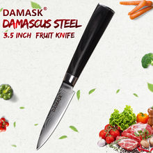 DAMASK Damascus Steels Chef Knives Japanese Kitchen Knife VG10 Core Handle Damascus Veins Pattern Paring Meat Knives Kitchenware(China)
