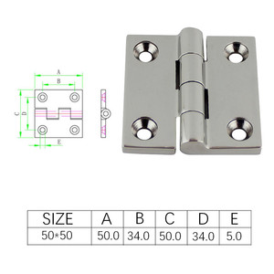 Image 3 - 50*50mm Stainless Steel 316 High Mirror Marine Square Hinge Boat Door Hinge Top Mirror Polished Boat/Yacht Square Hinge 5PCS
