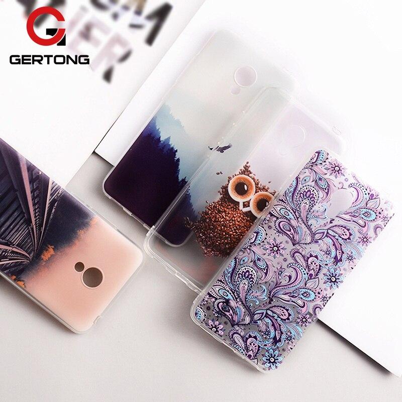 GerTong Мягкие TPU окрашенные телефона чехол для Meizu M6 Примечание M5 m5c m5s M3 m3s mini M2 Note mx6 MX5 pro 6 7 Plus U20 U10 крышка В виде ракушки