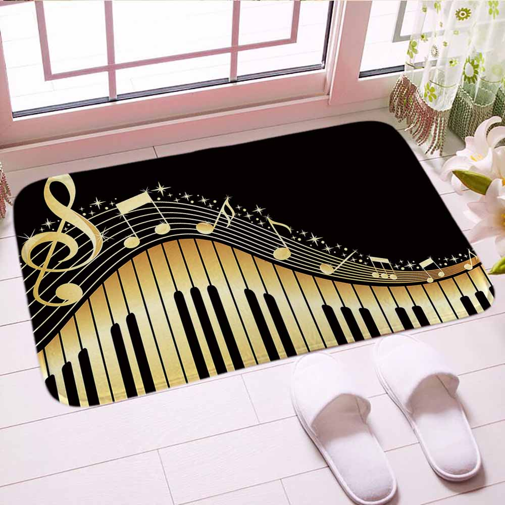 PERSONALISED PRINTED FLOOR ENTRANCE DOORMAT WAVE DESIGN HOME 40 X 60 CM ANY TEXT