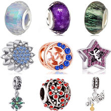 New Arrived Murano Beads DIY Apple Wolf Shoe Stars Moon Leaf Beads Charms Fit Original Pandora Bracelets DIY Trinket for Women(China)