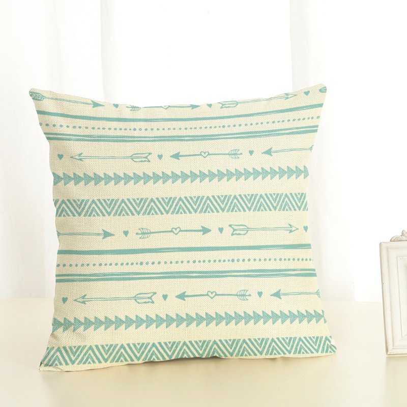RECOLOUR Hot sale geometric Cushion Cover Cotton Linen throw pillows Home Decor Pillowcase pillow cover Sofa cojines in Cushion Cover from Home Garden