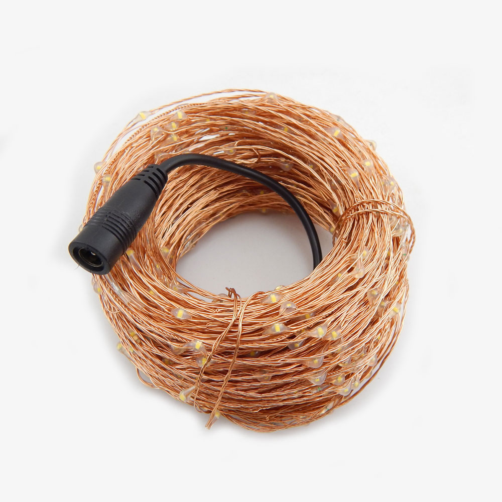 Aliexpress.com : Buy 99Ft/30m 300 Leds Copper Wire Warm White LED ...
