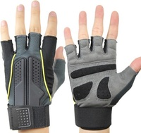 Breathable ventilate Fitness Sports Gym glove Gloves mitts Weight Lifting Durable Non slip with long wrist protect