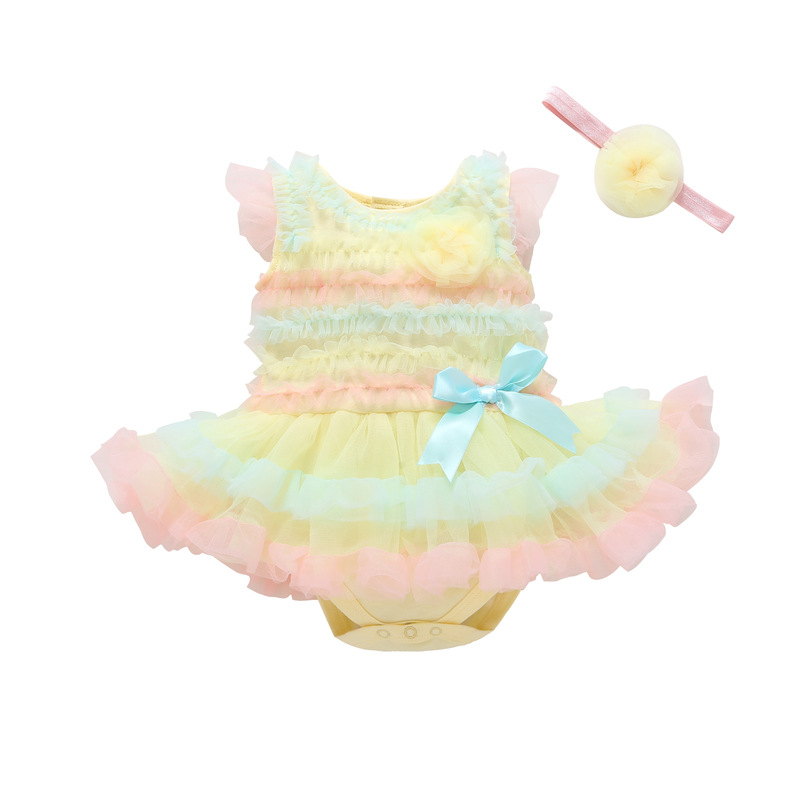 ccd057973 1 st Girls Bodysuit Baby Girl Clothes Baptism Dresses Pink Short ...