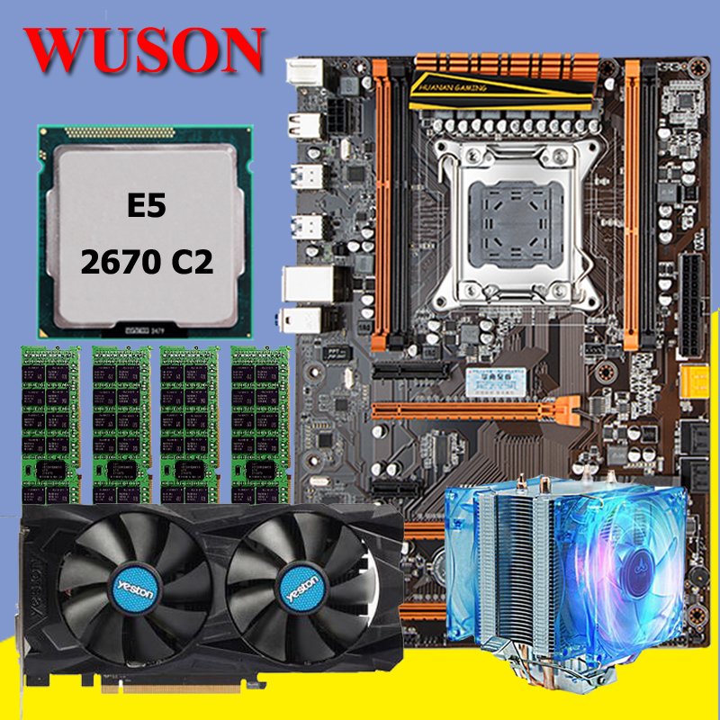 HUANAN deluxe X79 motherboard CPU RAM set Xeon E5 2670 C2 RAM 32G(4*8G) DDR3 RECC RX460 4G DDR5 recommend huanan deluxe x79 motherboard lga2011 intel xeon e5 2650 c2 ram 16g 4 4g ddr3 1333 recc support 64g 4 16g memory