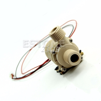 DC12V/24V Hot Water Circulation Pump Solar Brushless Motor Water Pump 5 Meter 3 Meter JUN26_25 solar water pump dc12v 24v brushless silent high temperature solar electric gas water heater circulating booster pump
