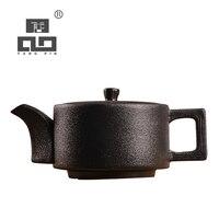 TANGPIN black japanese ceramic teapot kettle chinese tea pot 200ml|Teapots|Home & Garden -