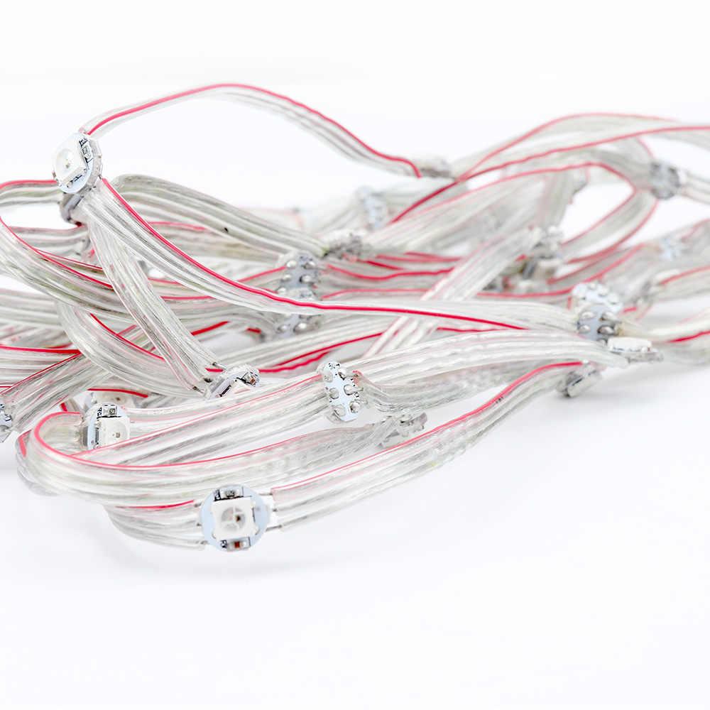 WS2812B светодиодный модуль строка предплатные узлов 5 V прибор приемно-idividually Панель встроенный SMD5050 RGB Цвет новая версия JQ