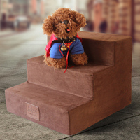 3 Steps Breathable Dog Stairs Anti slip Cat Staircase Waterproof Pet Climbing Ladder Bed Cushion Mat For Small Dogs Puppy Cat