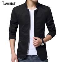 Men Jacket 2015 New Arrival Slim Men Jacket Fashion Korean Style Mandarin Collar Zipper Young Thin