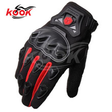 red men motorcycle gloves summer PRO knight Protective Gear Black Pro-Biker motocross Motorbike moto Racing Cycling atv parts
