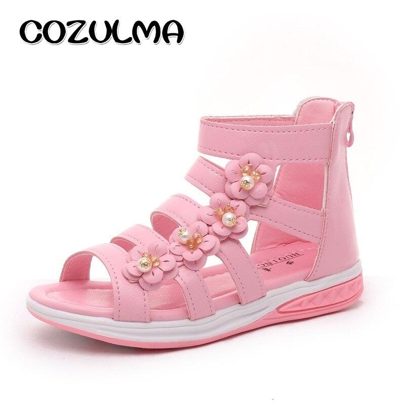 Brillant Cozulma Neue Mädchen Perle Blume Sandalen Kinder Strand Schuhe Sommer Stil Kinder Römischen Sandalen Mädchen Prinzessin Römische Schuhe