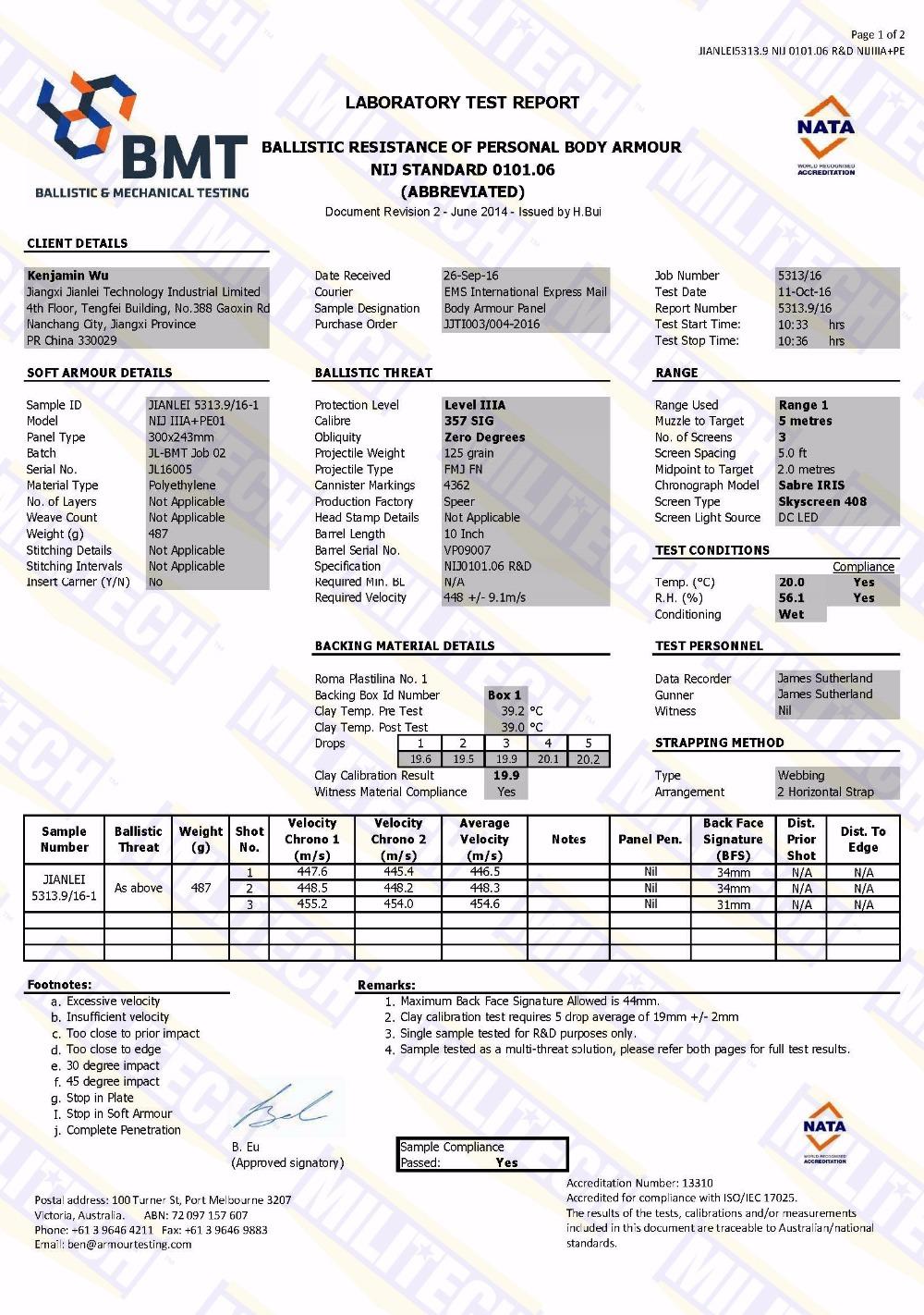 Ballistic IIIA Weight Stop118 4