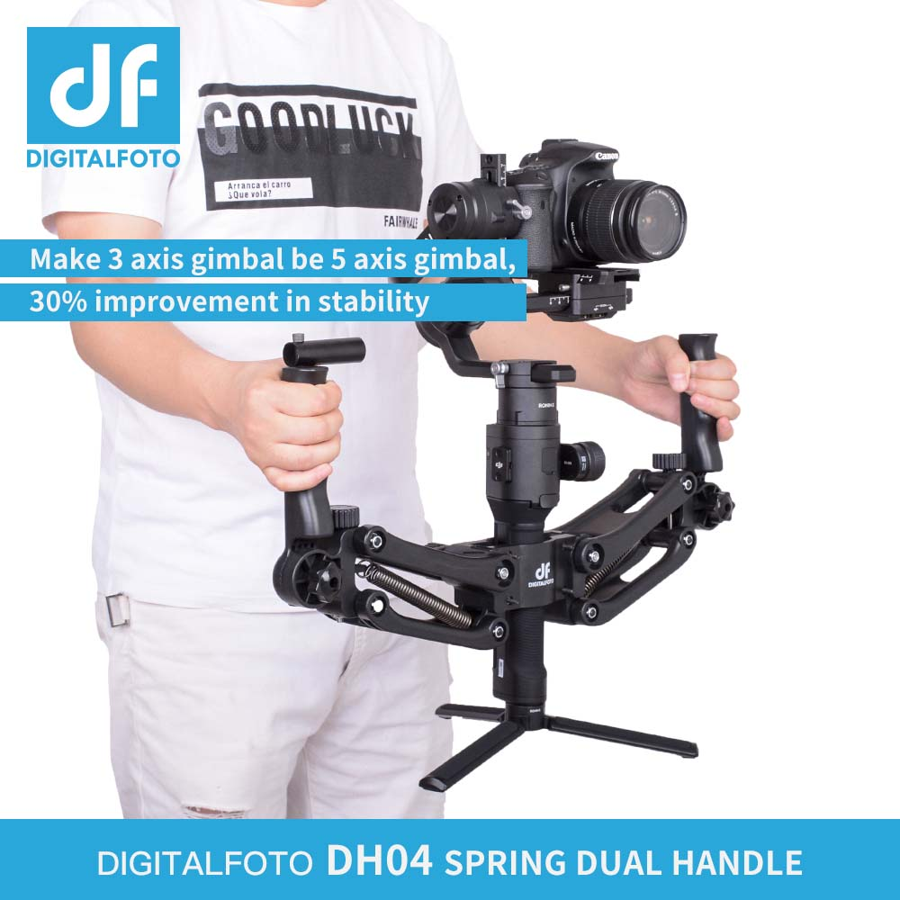 DH04 4.5KG Load 3 Z axis Gimbal Spring Dual Handle for DJI RONIN S AK2000 AK4000 OSMO Zhiyun Smooth 4 Crane 2 Crane Plus dh04 z axis damping spring dual handle grip arm for zhiyun crane 2 ak2000 ak2000 moza dji ronin s smooth 4 osmo 2 3 axis gimbal