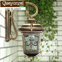Waterproof Aluminium Die casting Porch Light Outdoor Wall Lamp Never Rust Cottage Antique Garden Yard Aisle Street Lights Bronze