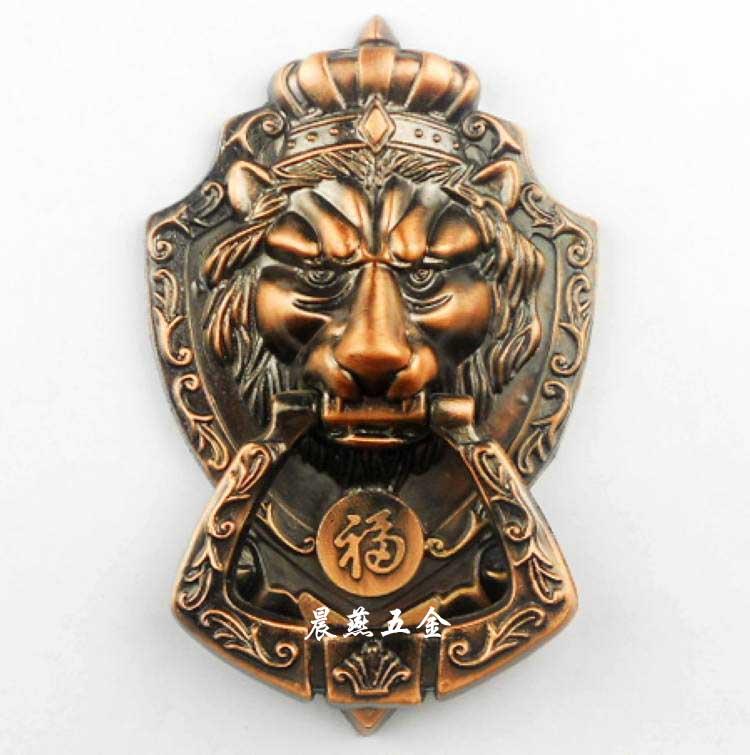 ФОТО Antique Chinese lion head door knocker handle Shoutou 17.5cm free shipping