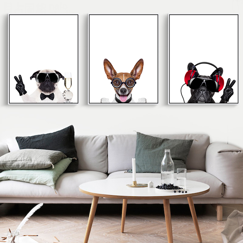 Living Room With Animal Painting