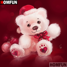 HOMFUN 5D DIY Diamond Painting Full Square/Round Drill Cartoon bear 3D Embroidery Cross Stitch gift Home Decor A08654 homfun full square round drill 5d diy diamond painting cartoon bear 3d embroidery cross stitch 5d decor gift a14427