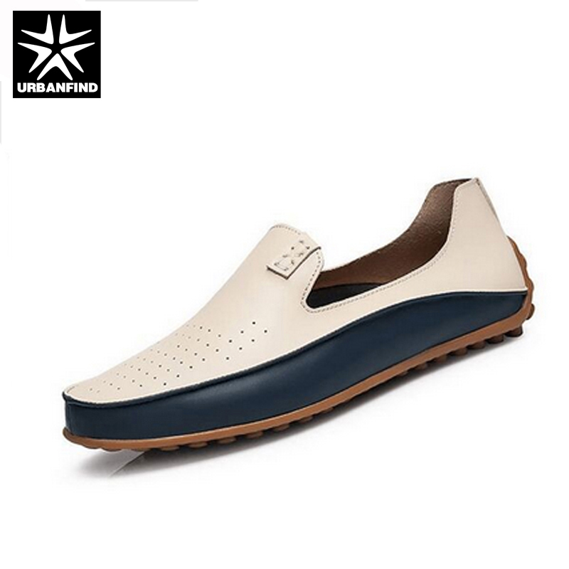 Brand Summer Causal Shoes Men Loafers Leather Moccasins Men Driving Shoes High Quality Flats For Man size 36-47 Two Styles mapleliz brand breathable slip on solid moccasins shoes for men full grain leather high quality driving soft flat men shoes