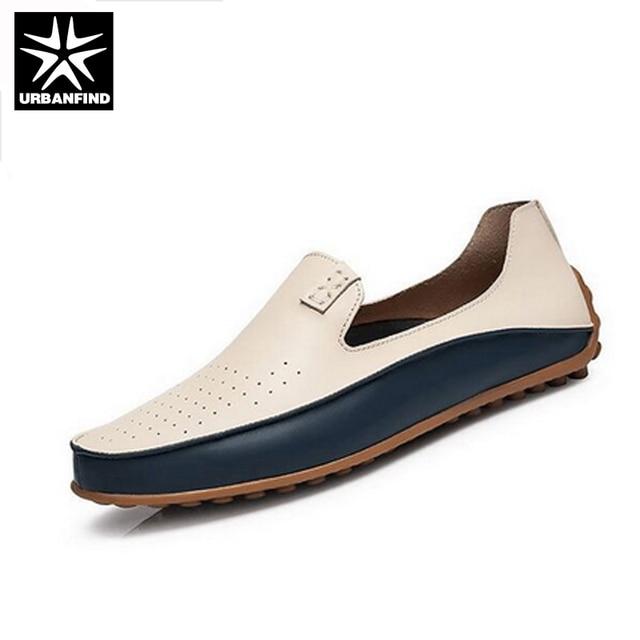 Moccasin homme En Cuir Marque De Luxe Chaussure hommes Moccasins 2017 nouvelle Mode chaussures Haut qualité Plus Taille 39-44 yYWlnK