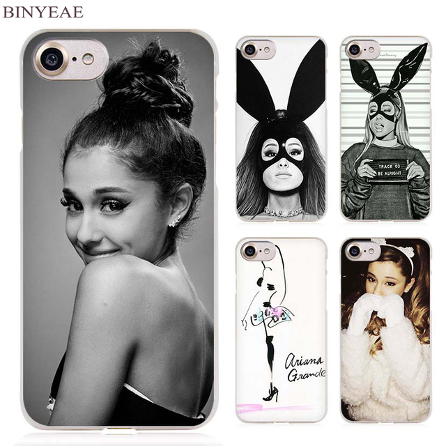 hot sale online ea8e8 3451b US $1.91 34% OFF|BINYEAE Cat Ar Ariana Grande Clear Cell Phone Case Cover  for Apple iPhone 4 4s 5 5s SE 5c 6 6s 7 Plus-in Half-wrapped Case from ...