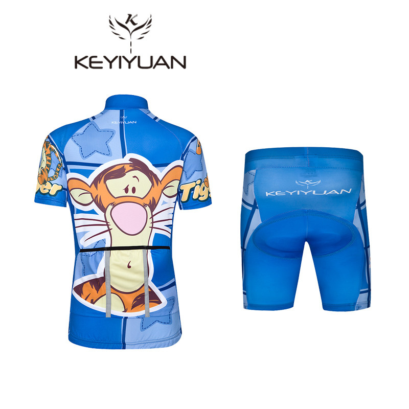 6cde32d55 KEYIYUAN Kids Breathable Cycling Jersey Set Summer Children Cycling  Clothing Ropa Ciclismo Quick Dry Bike Jersey Bicycle Clothes-in Cycling  Sets from Sports ...