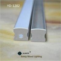 5-30 stks/partij 40 inch 1 m/stk led aluminium profiel, led kanaal, hoge depeth bar behuizing for12mm strip, stijve bar, kast hard strip