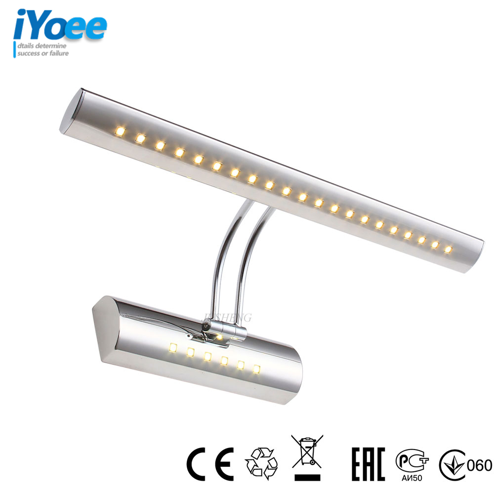 iYoee Vintage Indoor Wall Light with Swing arm in Bathroom Modern LED Mirror Light with switch Over Picture Lighting Fixtures