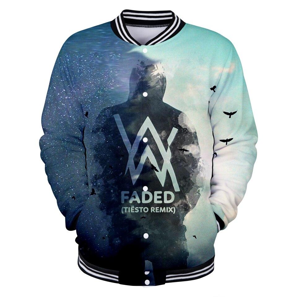 Alan Walker Baseball Jacket 3D Cool Print Spring Women/Men Fashion Hip Hop Autumn Coats Casual Jacket Clothes XXS To 4XL