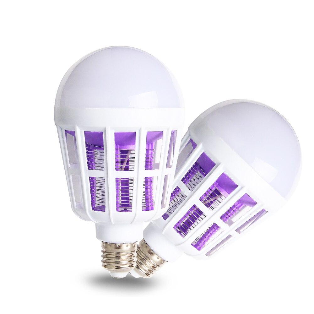 220V Mosquito Killer Lamp 2 in 1 E27 LEDs