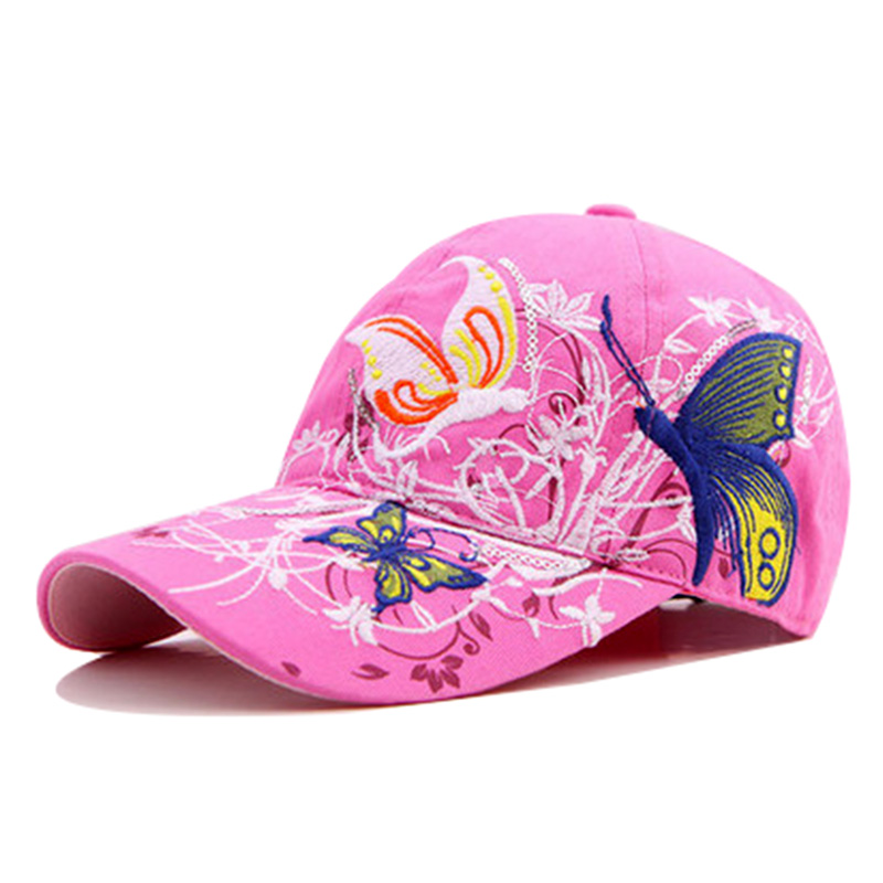 Mens and Womens Watercolor Poppy Flowers Flat Baseball Cap Plain Sports Cap for Unisex