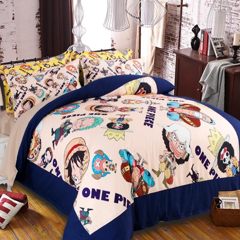 Bedding Set Japanese One Piece Anime Twin full Queen King Size
