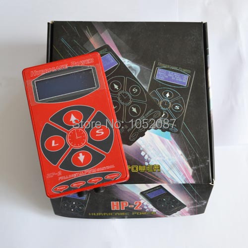 HOT RED HP2 Hurricane Tattoo Power Digital Dual LCD Display Tattoo Power Supply Free Shipping hp c9456a red
