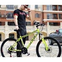 Aço carbono de alta qualidade 21-speed 26 polegadas duplo discsports & entretenimento empresa bicicleta de estrada